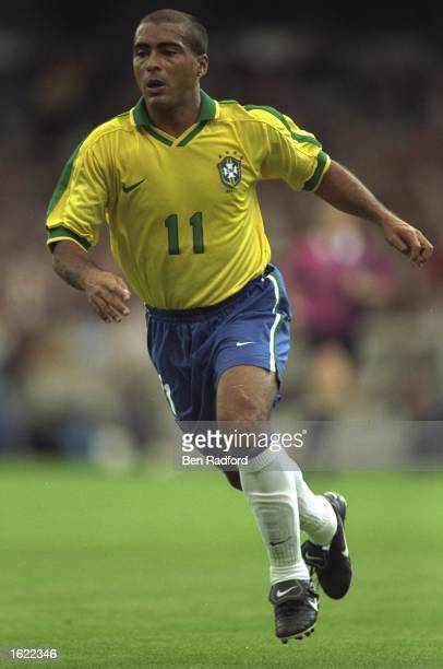 Romario of Brazil in action during the match against Italy in the Tournoi de France in Lyons France The game ended 3 3 Mandatory Credit Ben Radford...