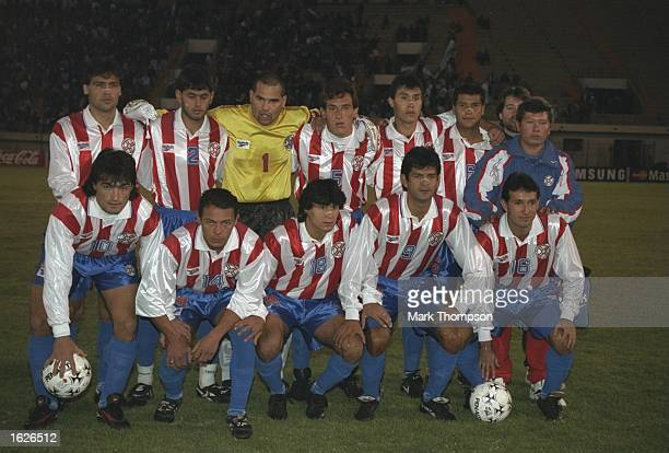 The Paraguay team group before the Copa America against Argentina in La Paz Bolivia Mandatory Credit Mark Thompson/Allsport