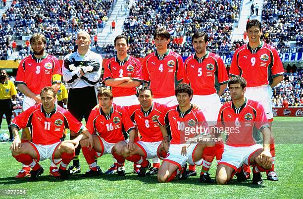 A group photograph of the Bulgarian team before the World Cup group D game against Paraguay at the Stade de la Mosson in Montpellier The match ended...