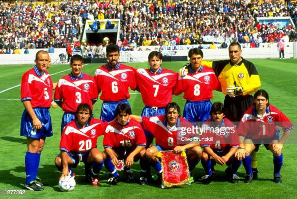 A group photograph of the Chilean team before the World Cup group B game against Italy at the Parc Lescure in Bordeaux The match ended 22 Mandatory...
