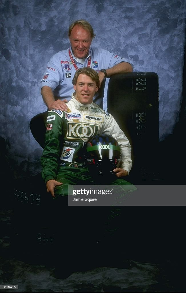 Alex (F) and Dan (B) Gurney pose for a portrait during the Detroit Grand Prix in Detroit Michigan. Mandatory Credit: Jamie Squire /Allsport
