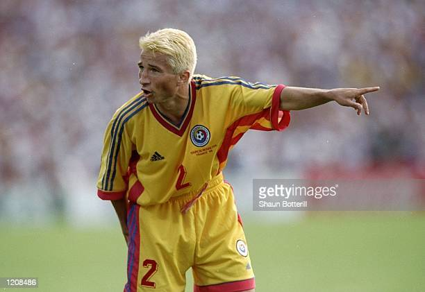Dan Petrescu of Romania during the World Cup second round match against Croatia at the Stade Lescure in Bordeaux France Mandatory Credit Shaun...