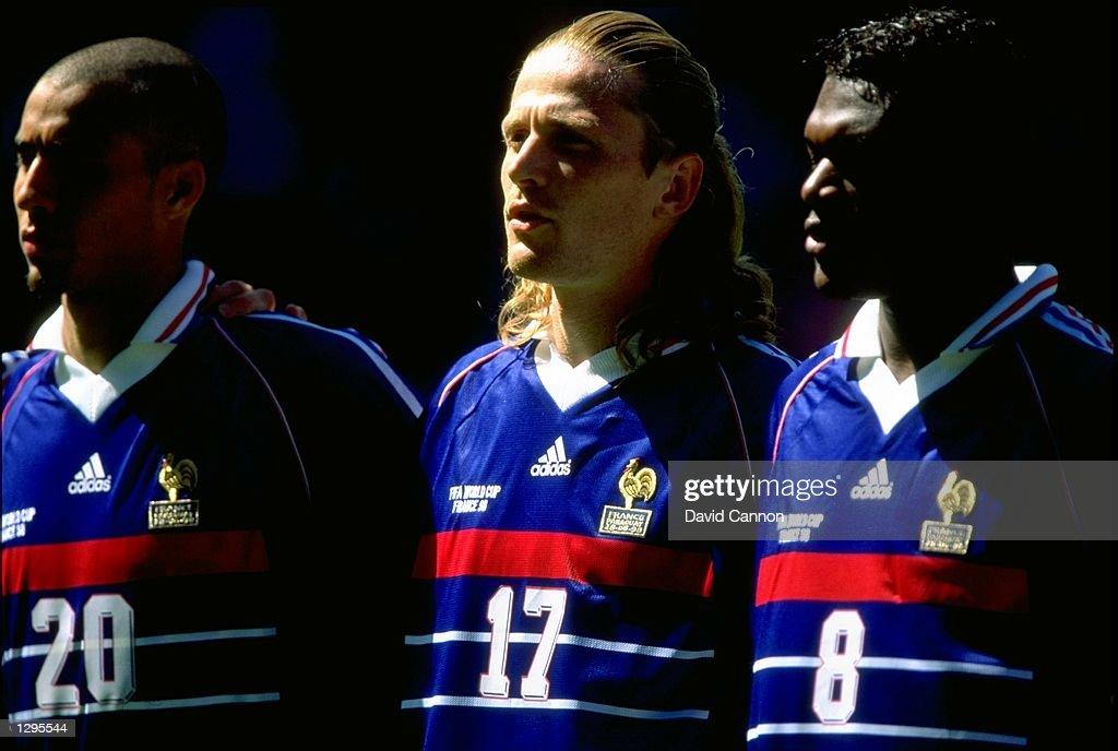 David Trezeguet, Emmanuel Petit and Marcel Desailly : Photo d'actualité
