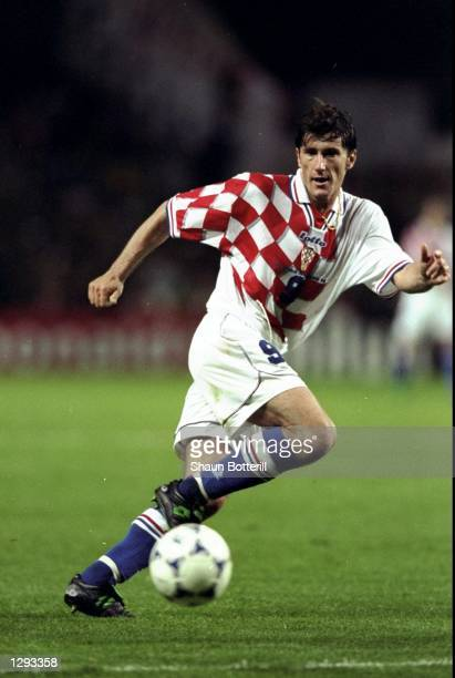 Davor Suker of Croatia on the ball during the World Cup group H game against Jamaica at the Stade Felix Bollaert in Lens France Suker scored as...
