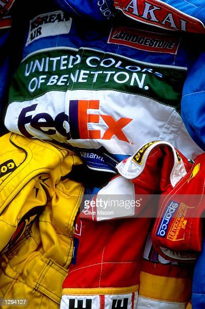 Drivers overalls during the French Grand Prix at the MagnyCours circuit in Nevers France Mandatory Credit Clive Mason/Allsport