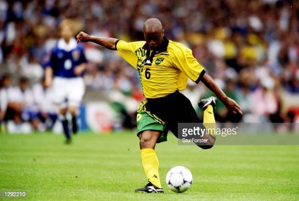 Fitzroy Simpson of Jamaica in action during the World Cup group H game against Japan at the Stade Gerland in Lyon, France. Jamaica won 2-1. \...