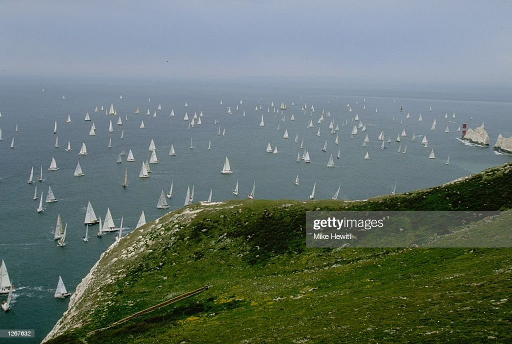 General view of the Needles : News Photo