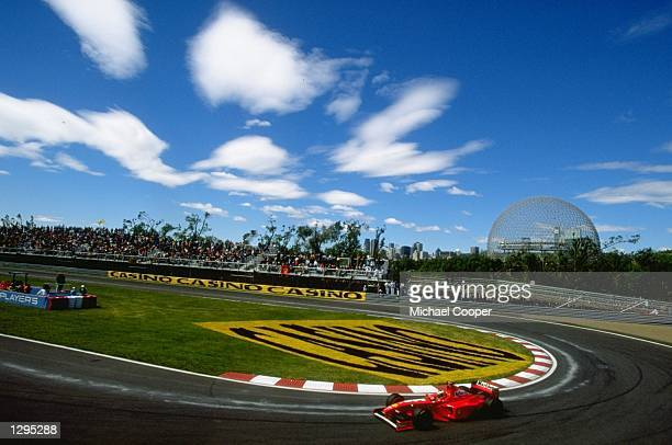 General view of the Gilles Villeneuve circuit during the Canadian Grand Prix in Montreal Canada Mandatory Credit Mike Cooper/Allsport