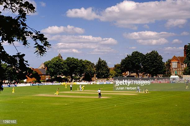 General view of the ground during the Axa League One Day match between Hampshire and Derbyshire in Basingstoke England Mandatory Credit Julian...