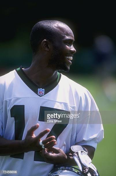 Hason Graham of the New York Jets in action during the Jets Rookie Camp at Hufstra University in Hemstead New York Mandatory Credit Ezra C Shaw...