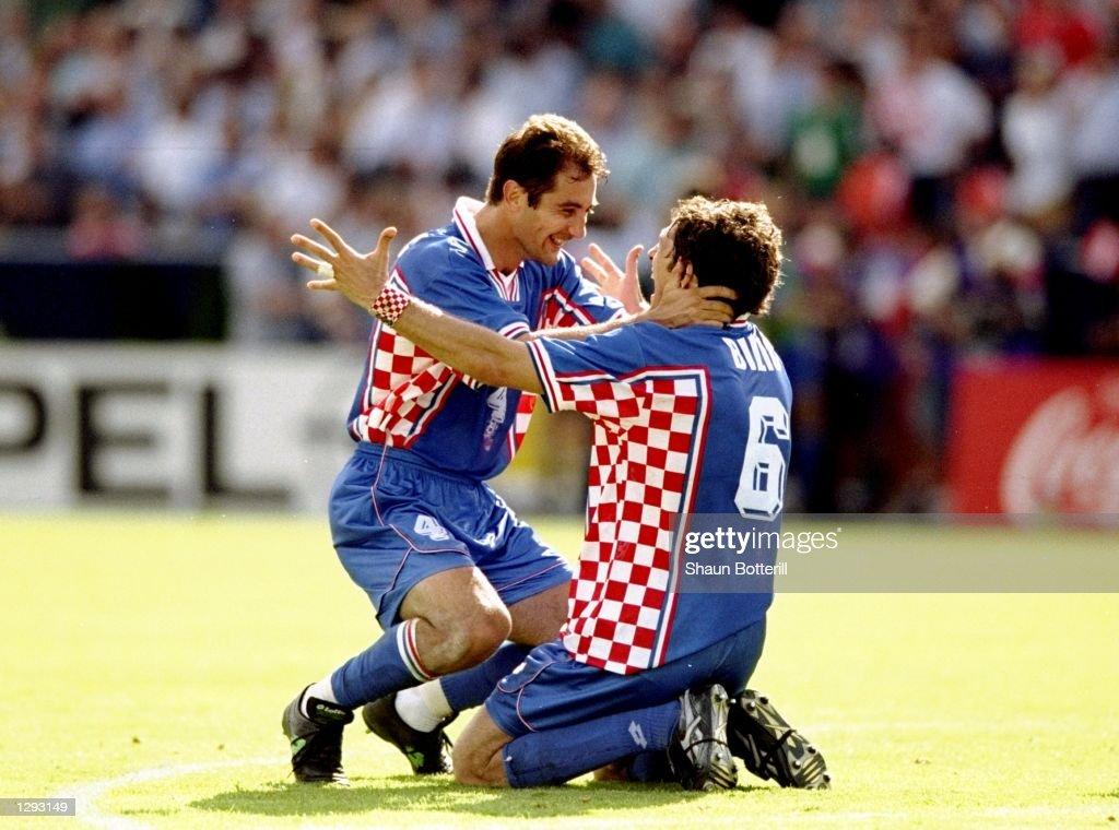 Igor Stimac and Slaven Bilic : News Photo
