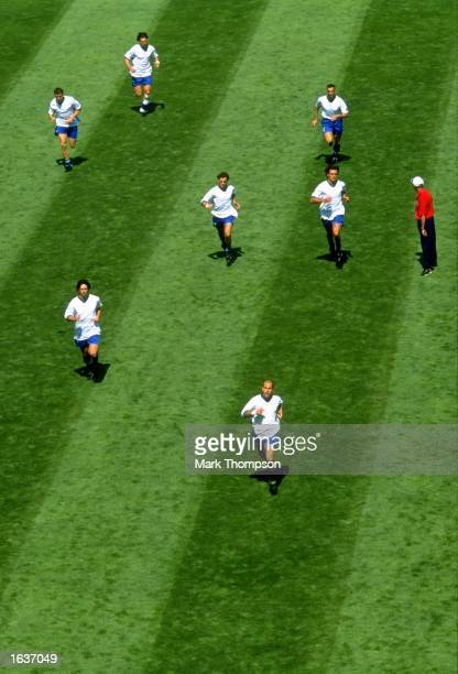 Italy warm up before the World Cup second round match against Norway at the Stade Velodrome in Marseille France Italy won 10 Mandatory Credit Mark...