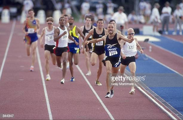 Jamey Harris runs in the Men''s 1500m during the US Track Field Championships at the Tad Gormley Stadium in New Orleans Louisiana Harris finished...