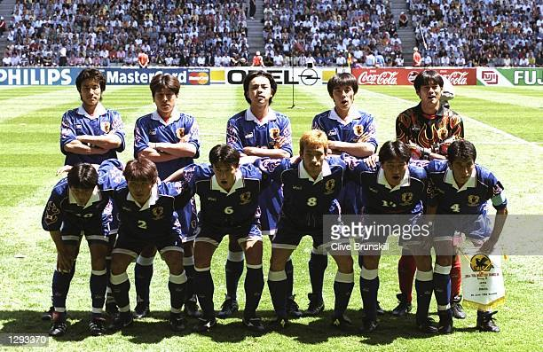Japan line up before the World Cup group H game against Argentina at the Stade Municipal in Toulouse France Japan lost 10 Mandatory Credit Clive...