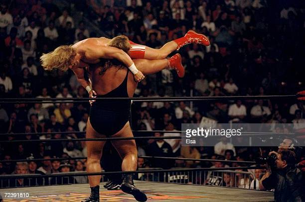 Kevin Greene in action during the WCW Bash at the Beach at the Cox Arena in San Diego California Mandatory Credit Elsa Hasch /Allsport