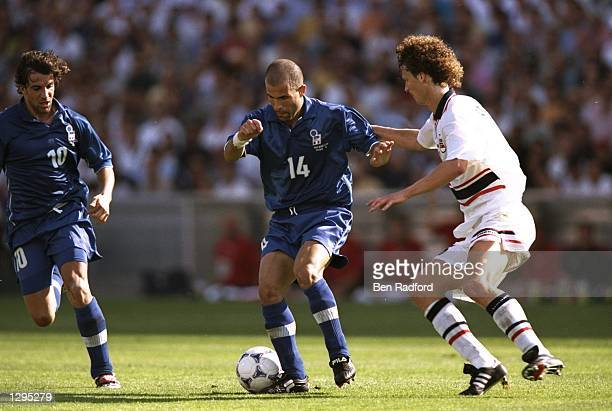 Luigi di Bagio of Italy controls the ball in the match between Italy v Norway in the 1998 World Cup played in Marseille, France. \ Mandatory Credit:...