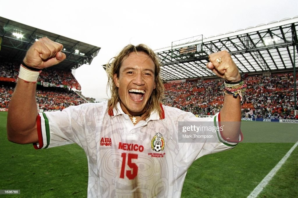 Luis Hernandez of Mexico celebrates after taking his team ...