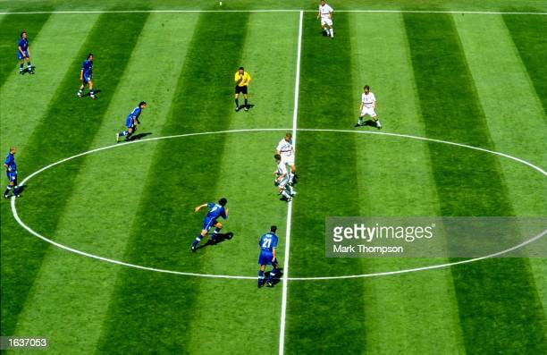 Norway kickoff in the World Cup second round match against Italy at the Stade Velodrome in Marseille France Italy won 10 Mandatory Credit Mark...