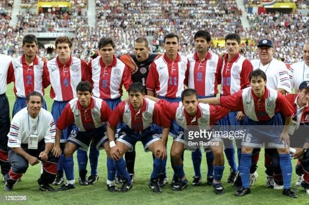 The Paraguay team line up before the World Cup group D game against Nigeria at the Stade Municipal in Toulouse France Paraguay won 31 Mandatory...