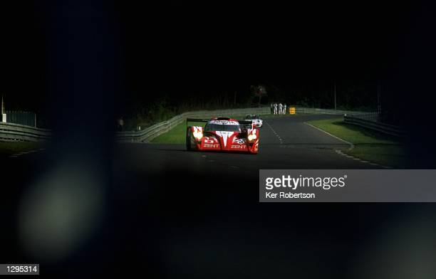The Toyota Motorsports Toyota GTOne driven by Martin Brundle of Great Britain Emmanuel Collard of France and Eric Helary also of France in action...