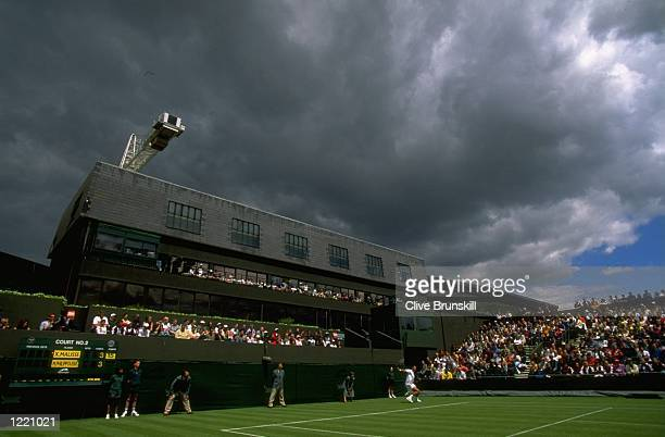 A general view of Court Number Two during the first day of the Championships played at the All England Club in London England Mandatory Credit Clive...