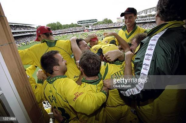 Australia celebrate victory over Pakistan in the Cricket World Cup Final at Lord's in London Australia won by 8 wickets Mandatory Credit Clive Mason...