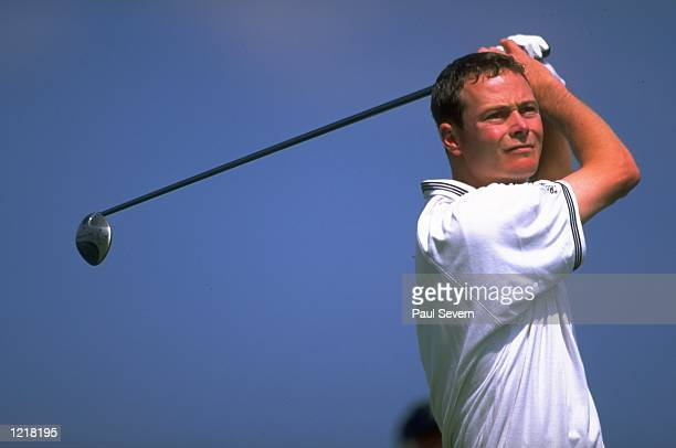 David Carter of England in action during the 1999 Compaq European Grand Prix Tournament played at the De Verve Slaley Hall Venue in Northumberland,...