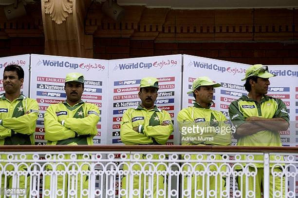 Dejected Pakistan players after defeat by Australia in the Cricket World Cup Final at Lord's in London Australia won by 8 wickets Mandatory Credit...