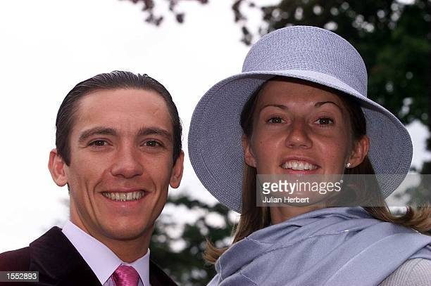 Frankie Dettori arrives with his wife Catherine at Ascot Racecourse on Ladies Day before racing on the 3RD day of The Royal Meeting Mandatory Credit...