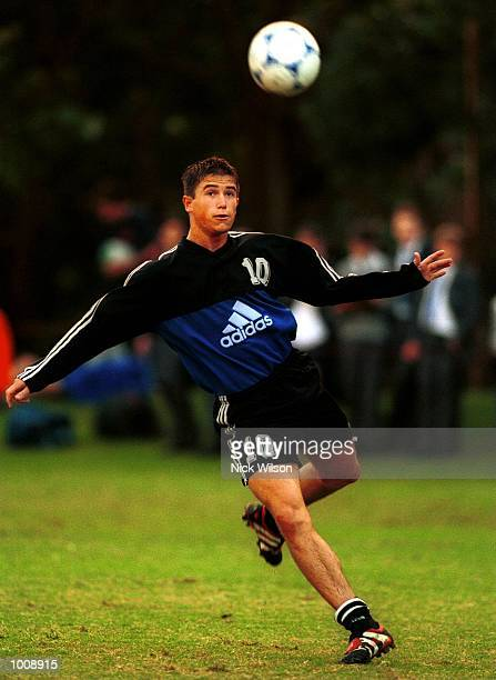 10 Jun 1999 Harry Kewell of Australia practices his skills during today's training session at Saint Ignatius'' College Riverview Sydney prior to the...