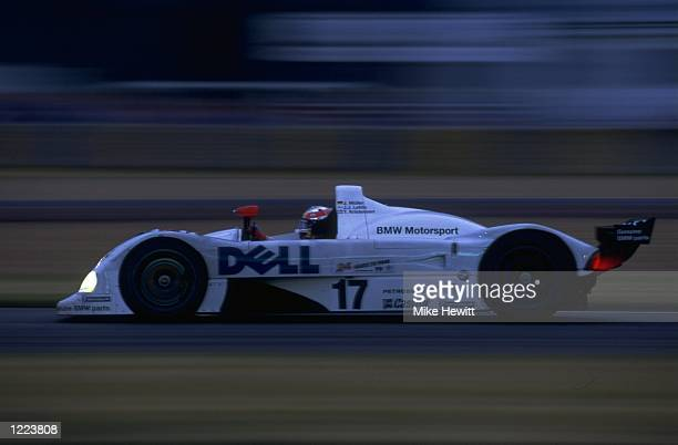 Kristensen Lehto and Muhler drivers of the BMW V12 LMR team car in action during the Le Mans 24 Hour Race held at the Circuit De La Sarthe in France...