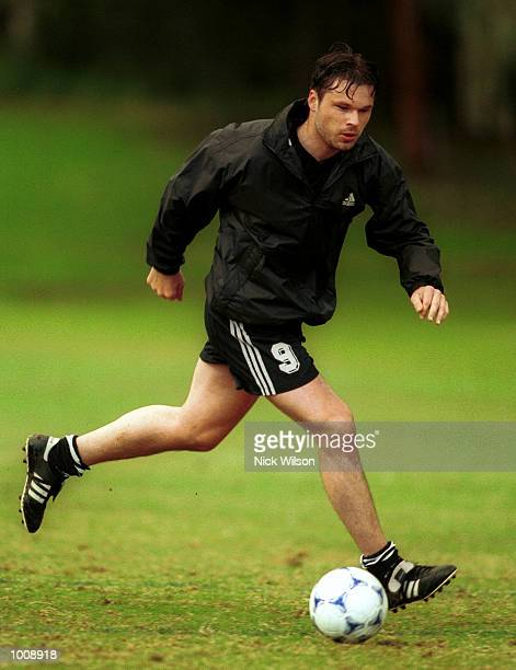 10 Jun 1999 Mark Viduka of Australia during today's training session at Saint Ignatius'' College Riverview Sydney prior to the Australia Socceroos v...