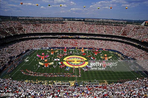 Opening Ceremony of the Women's World Cup Games at the Giants Stadium in East Rutherford New Jersey Mandatory Credit Jamie Squire /Allsport