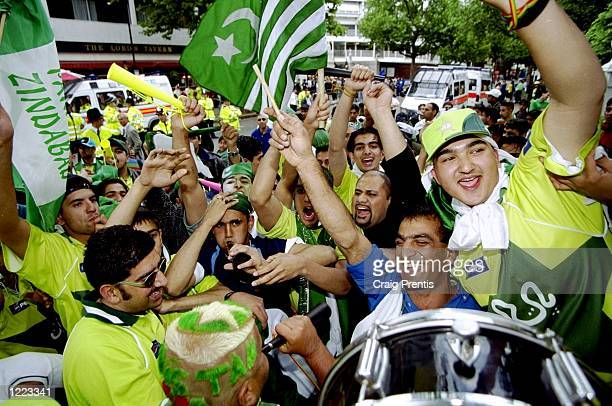 Pakistan fans outside the ground during the Cricket World Cup Final against Australia at Lord's in London Australia won by 8 wickets Mandatory Credit...