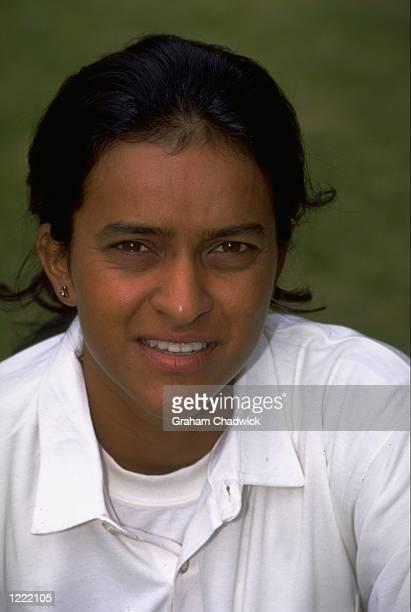 Portrait of Kalyani Umbrani of the Indian Women's Cricket Team. \ Mandatory Credit: Graham Chadwick /Allsport