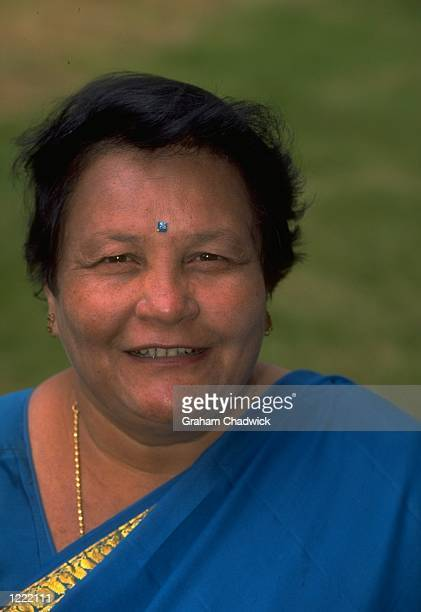 Portrait of the Indian Women's Cricket Team manager Jyoti Joshi Mandatory Credit Graham Chadwick /Allsport