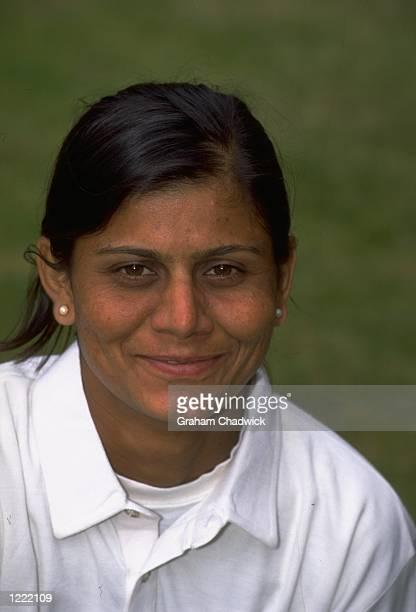 Portrait of Umesh Kumari of the Indian Women's Cricket Team Mandatory Credit Graham Chadwick /Allsport