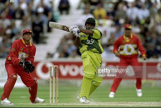 Saeed Anwar of Pakistan on his way to a century in the World Cup Super Six match against Zimbabwe at the Oval in London Pakistan won by 148 runs...