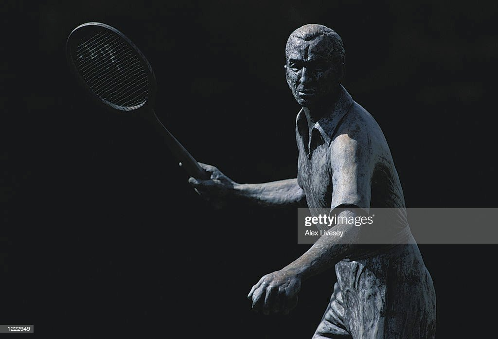 Fred Perry Statue : News Photo