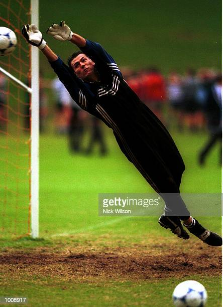 10 Jun 1999 Zeljko Kalac of Australia during today's training session at Saint Ignatius'' College Riverview Sydney prior to the Australia Socceroos v...