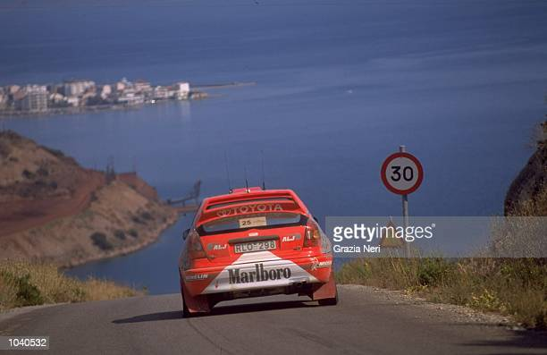 Abdullah Bakhashab of the United Arab Emirates in action in the Toyota Corolla WRC during the Acropolis Rally in Greece Photo by Germano Gritti...