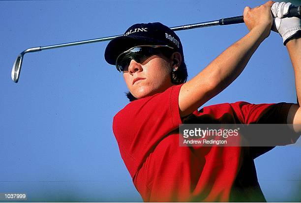 AJ Eathorne of the USA in action during the 2000 Evian Masters at the Royal Evian Golf Club in EvianlesBains in France Mandatory Credit Andrew...