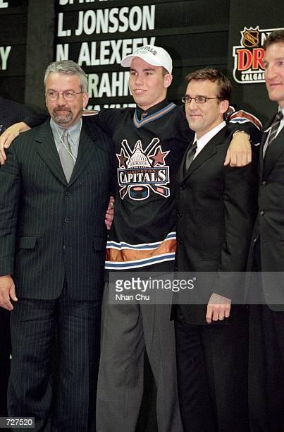 Brian Sutherby of the Washington Capitals poses during the NHL Draft Pick 2000 in Calgary Alberta CanadaMandatory Credit Nhan Chu /Allsport