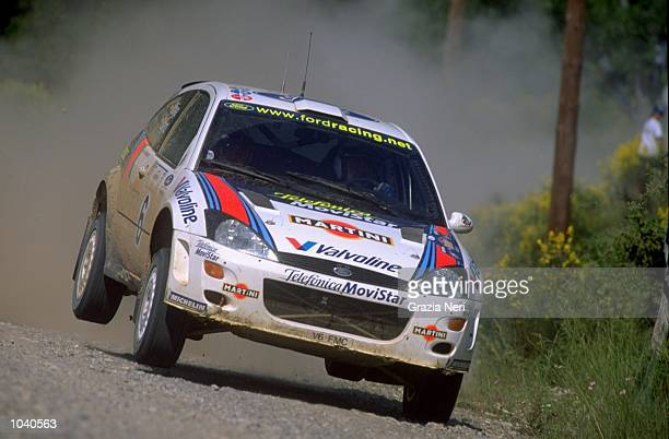 Carlos Sainz of Spain in his Ford Focus during the Acropolis Rally in Greece Photo by Germano Gritti Mandatory Credit Grazia Neri /Allsport