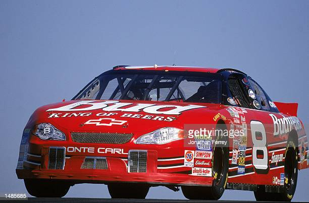 Dale Earnhardt Jr #8 who drives the Chevrolet Monte Carlo drives during the Save Mart/Kragen 350 presented by NAPA part of the NASCAR Winston Cup...