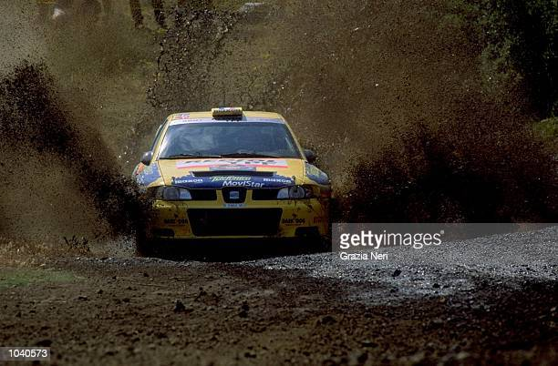Didier Auriol of France in his Seat Cordoba during the Acropolis Rally in Greece Photo by Germano Gritti Mandatory Credit Grazia Neri /Allsport