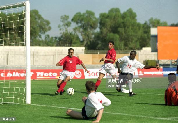 Emile Heskey scores the winner for England during the International Friendly match against Malta at the National Stadium in Ta'' Qali Malta England...