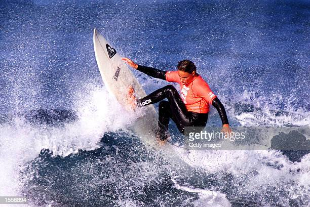 Former 4 times Association of Surfing Professionals world champion Lisa Andersen from Florida USA was sidelined to the losers rounds of the Billabong...