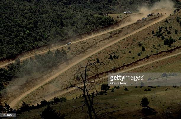 General view of the action during the Acropolis Rally in Greece Photo by Germano Gritti Mandatory Credit Grazia Neri /Allsport