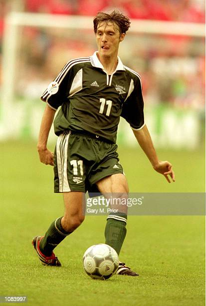 Maren Pavlin of Slovenia in action during the European Championships 2000 Group C match against Norway played at the Gelredome in Arnhem Holland The...